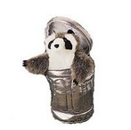 raccoon trash can puppet