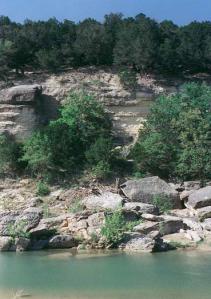 Cliff at Dinosaur Valley