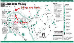 Dinosaur Valley Map