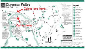 Dinosaur Valley Map