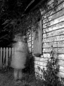 Ghostly image little girl
